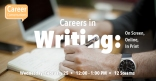 Career Conversation: Careers in Writing Marquee Image